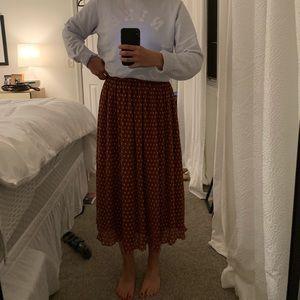 Halogen Warm Brown Polkadot Skirt